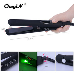 Wholesale iron infrared - CkeyiN LED Digital Infrared Hair Care Iron Temperature Control 3D Floating Ceramic Hair Straightener Negative Ions Straightening
