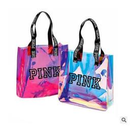 5d86c8154c36 Розовый прозрачный сумки пляж сумка женщины тенденция тотализатор розовый  мода ПВХ ясно сумка смешные сумки Бесплатная доставка