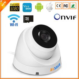 câmera de alerta por e-mail Desconto BESDER ONVIF IP Câmera Wifi 1080 P 960 P 720 P Opcional ONVIF P2P Email Alerta Yoosee Câmera Dome Sem Fio Com Slot Para Cartão SD Max 64G