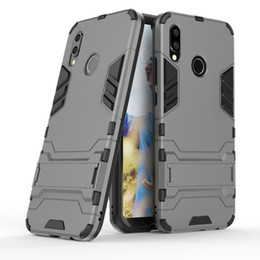 Wholesale 3d huawei phone case - 3D Combo Armor Case for Huawei P20 Lite ANE-LX1 for Huawei P20 for Huawei P20 Pro Shockproof Phone Back cover Case Fundas Coque