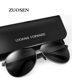 a6ce1589946 ZUOSEN 2018 Top quality Sunglasses Men Women Brand Designer Driving glasses  UV400 Goggle Metal Frame glass Lenses with free cases and box