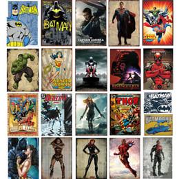 super eroi arte Sconti 55 stili Marvel Film Super Heroes Retro Plate Metal Motor Vintage Craft Targa in metallo Retro pittura in metallo Poster Bar Pub Wall Art
