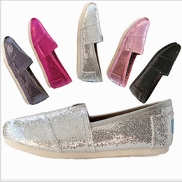 Wholesale Fabric Shine - Kids Sequin Shining Canvas Shoes unisex Spring Summer High Low cut Boys Girls Sports Casual Shoes Children Lazy Slip-on Sneakers hot INS new