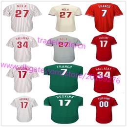 Wholesale Browning Custom - Mens Youth Womens 27 Aaron Nola 17 Rhys Hoskins 34 Roy Halladay 20 Mike Schmidt Maikel Franco Custom Home Away Philadelphia Baseball Jerseys