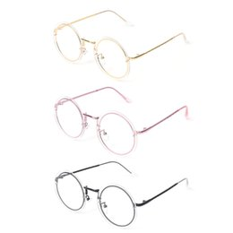 89f92fb0c08b Discount modern eyewear - Round Clear Lens Glasses Metal Frameless Vintage  Gentle Women Men Modern Eyewear