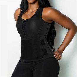 S-2XL Frauen abnehmen Neopren Weste Hot Sweat Shirt Body Shaper Gewichtsverlust Taille Trainer Shapewear Einstellbare Kontrolle Bauch von Fabrikanten