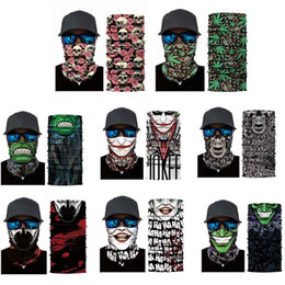 2019 protector facial del cuello Ciclismo Head Scarf Neck Warmer Máscara de calavera Ski Headband Máscara Scary Halloween Face Shield Outdoor 2018 rebajas protector facial del cuello
