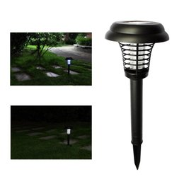 Wholesale solar insect killer lamps - Bug Mosquito Insect Killer Lamps Outdoor Solar Lamps Bug Zapper Solar Light Waterproof Outside Led Light Lamp Lawn Garden Path Walkway Light
