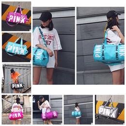 Wholesale bucket purse handbag - Pink Letter Handbags Shoulder Bags Pink Purse Totes Travel Duffle Bags Waterproof Beach Bag Shoulder Bag Shopping Bags Tool Bag KKA5100