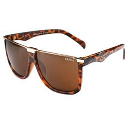 Wholesale Diamond Star Brooch - High Quality Fashion Brand Polarized Sunglasses Sunscreen Male and Female Brand Designer Retro Letter Driver Resin Aviator Sunglasses A-5