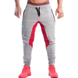 Wholesale Fitness Bottoms - Wholesale- New 2017 Autumn Mens Joggers Brand Fashion Sweatpants Male Fitness Joggers Bottom Snapback Pants Men Aesthetics Pantalon Hombre