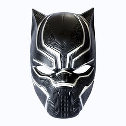 Wholesale movie masquerade - Black Panther Masks Movie Cosplay Four Cosplay Men's Latex Party Mask Masquerade For Halloween Christmas Decoration HH7-1112