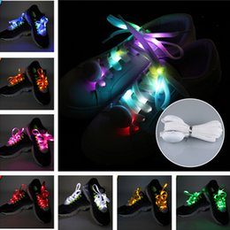 Wholesale Fun Shoelaces - 1 pairs 120cm LED Glowing Shoelaces Electronic Operation Multicolor Flashing Luminous Fun Shoelaces Outdoor Party Supplies Shoestrings