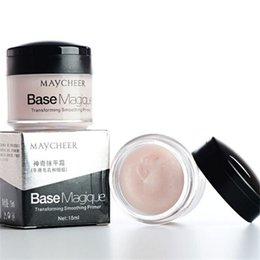 maquillage incroyable Promotion Magie Smooth Silky Face Primer de maquillage Invisible Pore Cover Rides Correcteur Base Foundation Cover Incroyable Effet MAYCHEER CREAM DHL Free