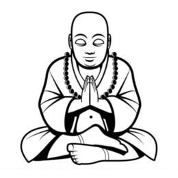 Bouddha bénissant autocollants de voiture vinyle voiture emballage autocollant corps figure décoration ? partir de fabricateur