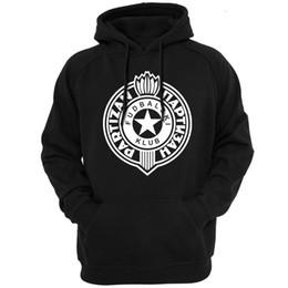 2019 roupas de outono FK Partizan Belgrado Sérvia Hoodies Moletons Com Capuz Com Capuz Roupas Casuais Roupas masculinas Primavera outono temporada Leve 83 desconto roupas de outono