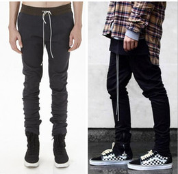 Wholesale Jogging Pants Fashion Mens - 2018 new high quality Justin bieber Slim casual pants mens Inner foot zipper fashion Pencil pants tide hip hop sweatpants mens Jogging pants