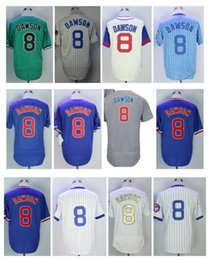 Wholesale Majestic Throwback Jerseys - Throwback 8 Andre Dawson Jersey Chicago Andre Dawson Baseball Jerseys Cooperstown Pinstripe White 1987 1969 1988 Blue Pullover Majestic