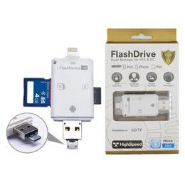 i-Flash Lecteur Multi-Carte OTG Lecteur HD Micro SD TF Mémoire USB Lecteur de Carte Adaptateur pour iPhone x 8 7Andriod / PC Périphérique ? partir de fabricateur