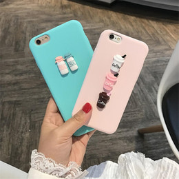 Wholesale Fit Coffee - 3D Coffee Milk Cute Candy Silicone TPU Phone Case For Iphone X 6 7 8 Plus Samsung S7 S8 Plus