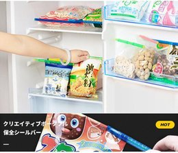 clips magicos Rebajas Small Seal Up Stick Magic Keep Fresh Bag Clips Gran ayudante de almacenamiento Sticks For Home Easy Cary 0 42zx5 cc