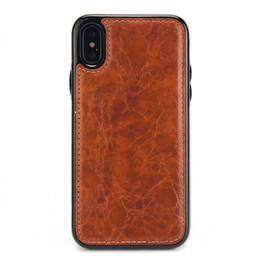 card pocket cover Coupons - One Piece Luxury PU Leather Work For Car Holder Phone Case With Magnet for iPhone XS MAX XR 7 8 Plus 6 6S Design Cover Case