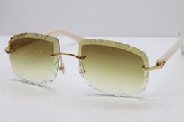 Солнцезащитные очки для корабля онлайн-Бесплатная доставка rimless солнцезащитные очки резные линзы T8200762 старинные Rimless металлические солнцезащитные очки новые женщины Картер очки горячие унисекс солнцезащитные очки