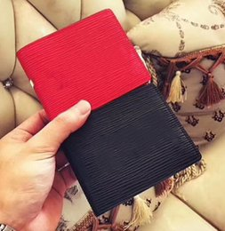 Wholesale Cowhide Box - High quality fashion men Genuine leather short style wallet Men's youth personality purse with box no411