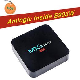 Tv árabe quente on-line-Hot OEM Melhor MXQ Pro 4K Android 7.1 Caixa de TV RK3229 Amlogic S905W Android 7.1 Com suporte personalizado iptv árabe fluxo melhor X96 T95M T95X T95N