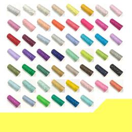Roll organza per decorazioni online-Glitter Paillettes Tulle Roll Spool Paillettes Bobine Decorazione di cerimonia nuziale Organza Fai da te Artigianato Birthday Party Supplies 10hm gg