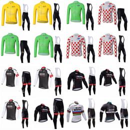 Wholesale Full Bibs - BORA TOUR DE FRANCE team Cycling long Sleeves jersey (bib) pants sets New Arrival High Quality Team Cycling Clothing D1625