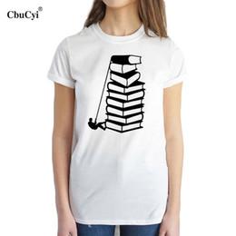 Libros de los amantes online-Camiseta de mujer Cbucyi Books Lovers Reader Camiseta Mujer divertida Bookworm Graphic Tee Shirt Estudiantes universitarios camiseta casual