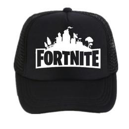 Wholesale Black Mesh Netting - Fortnite New Hot Trucker Cap Hot Game Fortnite Fans Cool Mesh Caps Summer Baseball Net Trucker Caps Hat For Men Women