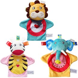 Wholesale Hand Puppet Plush Doll Children - Glove Cartoon Animal Finger Plush Toys On Fingers Biological Children Baby Doll Kids Educational Hand Puppets Toy