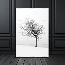 Wholesale Natural Wall Paint - nordic poster Canvas Painting home decor art Prints Tall Trees Forest Natural Wall Pictures Living Room Art Decoration Picture
