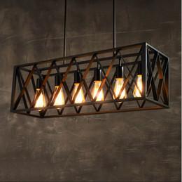 Luzes de trabalho nordicas led on-line-Loft Retro Industrial de metal luzes pingente de ferro forjado Americano Vintage E27 lâmpada Nordic luminária para Barras de café sala de Jantar