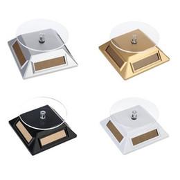placa rotativa Desconto Solar 360 graus Turntable Rotating Jóias Display Plate Stand de Exibição de energia do relógio de vitrine Exibição Titular da Bandeja LZ1516