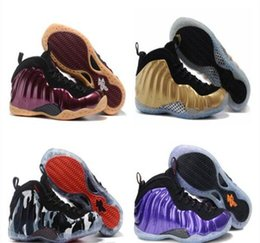 Wholesale Cow Fleece - wholesale 2018 new Style penny hardaway Men Basketball Sneakers Trainers Shoes Cheap Gold Pro in Fleece FashionTop Quality US 7-12