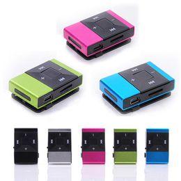 2019 base maestra Moda Mini Clip USB Reproductor de música Mp3 digital Soporte 8GB Tarjeta SD TF Diseño elegante elegante Deporte Compacto reproductor de mp3 Venta caliente 5