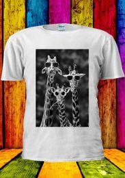 occhiali da giraffa Sconti Occhiali da sole Giraffe Funny Giraffa T-Shirt Vest Canottiera Uomo Donna Unisex 1821