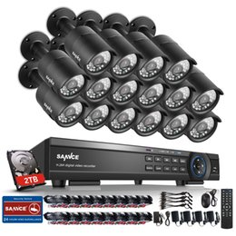 Wholesale 16ch Dvr System - SANNCE 16CH 1080P HD DVR P2P 3000TVL In  Outdoor Home Security Camera System 2TB