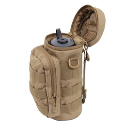 Wholesale Black Water Gear - Outdoors Molle Water Bottle Pouch Tactical Gear Kettle Waist Shoulder Bag for Army Fans Climbing Camping Hiking Bags J2