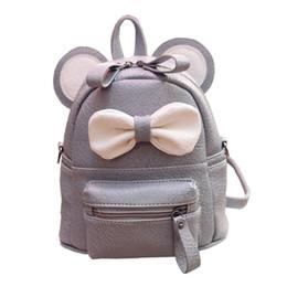 Wholesale mouse backpack - Cartoon Cute Mini Backpack For Women Cute Mouse Ear Bag High Quality PU Leather Girls Rucksack Children School Shoulder Book Bag Mochila