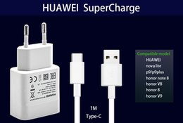 Wholesale Original Dock - HUAWEI P9 nova lite Fast Charger Original 9V2A charge Quick Wall Travel Adapter Type-C USB Cable honor 8 9 note8 V8 V9 Charging