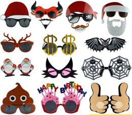 Mascarade fête lunettes fête fête drôle rangé verre anniversaire lunettes noël lunettes fête des fantômes ? partir de fabricateur