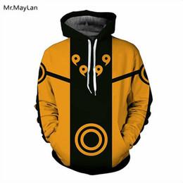Wholesale naruto sasuke hoodie - 2018 Spring Anime Naruto Print 3D Thin Hooded Sweatshirt Uzumaki Sasuke Long Sleeves Hoodies Men Women Outerwear Tops