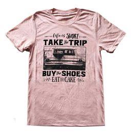 0ef1435d008 Tallas grandes T-Shirt de Las Mujeres de Impresión de la Letra Camiseta  Divertida Casual de Manga Corta Floja Tops de Verano de Moda Chica O-cuello  Camiseta ...