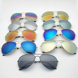 multi metal colorido Desconto 2018 moda estilo clássico liga de metal armação de óculos de sol colorido espelho sol óculos de sol para homens e mulheres melhor presente