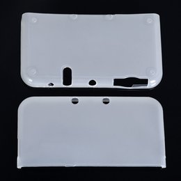 concha 3ds Desconto Jogos de Acessórios Casos Claro Branco Macio TPU Protetora Caso Game Console Protetor de Cobertura Da Pele Shell para Novo N-intendo 3DS Console LL XL