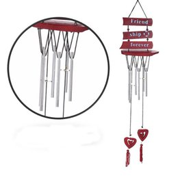 outdoor chimes Coupons - 48cm 6 Tubes Wind Chimes Bells Carillon Copper Windchime Home Outdoor Living Yard Chapel Decor For Wall Hanging Craft 5 8bza Z